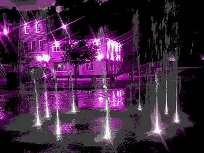 Folkestone Harbour Wall Art - Digital Art - Folkestone Fountains by Roger  Booton