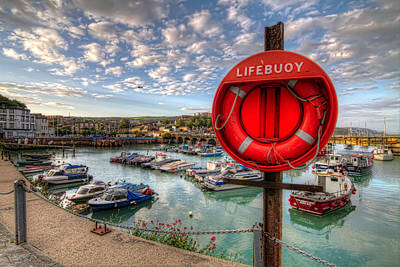 Folkestone Harbour Wall Art - Photograph - Folkstone Harbour by Tim Stanley