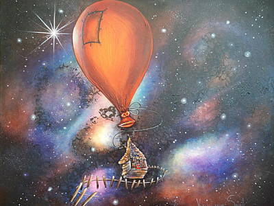 Outer Space Painting - Follow That Star by Krystyna Spink