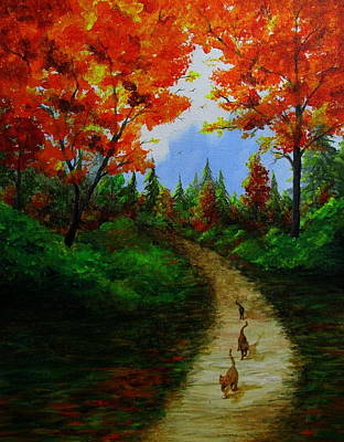Painting - Follow The Leader by Catherine Howley