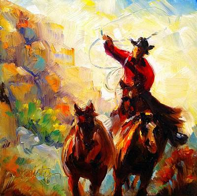 Gallup Painting - Follow The Leader by Kristy Tracy