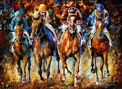 Follow The Leader - Palette Knife Oil Painting On Canvas By Leonid Afremov Original by Leonid Afremov