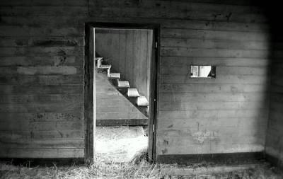Cabin Wall Photograph - Follow The Light by Karen Wiles