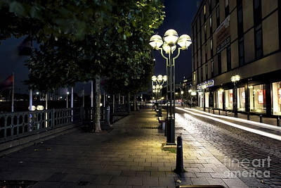 Photograph - Follow The Lights In Hamburg by John Rizzuto