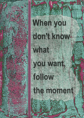 Follow The Moment Art Print by Gillian Pearce
