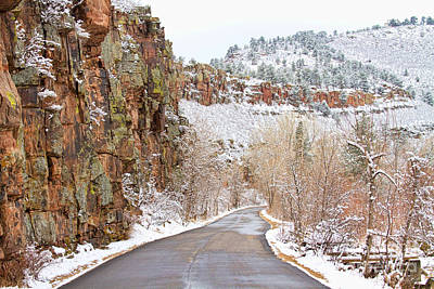 Bo Insogna Photograph - Follow The Red Rock Ridge Winter Road  by James BO  Insogna