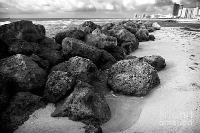 Photograph - Follow The South Beach Rocks by John Rizzuto