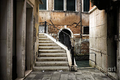 Photograph - Follow The Stairs In Venice by John Rizzuto