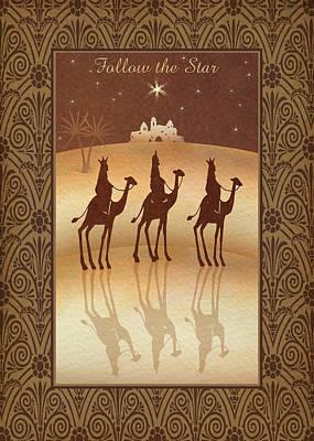 Nativity Painting - Follow The Star by P.s. Art Studios