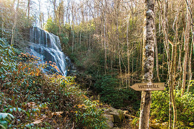 Eastatoe Falls Photograph - Follow The Trail by Molly Grabill