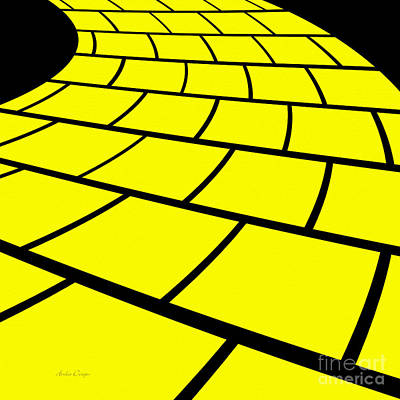 Digital Art - Follow The Yellow Brick Road by Andee Design