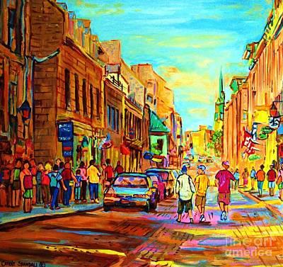 Follow The Yellow Brick Road Art Print by Carole Spandau