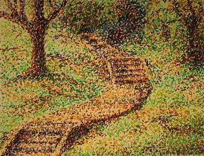 Painting - Follow The Yellow Brick Road by Lyndsey Hatchwell