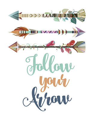 Nursery Painting - Follow Your Arrow by Tamara Robinson