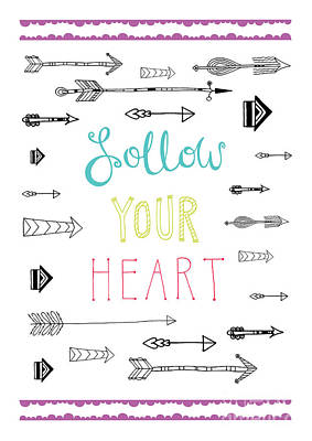 Follow Your Heart Art Print by Susan Claire