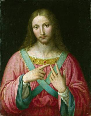 Bible Painting - Follower Of Bernardino Luini. Christ  by Celestial Images