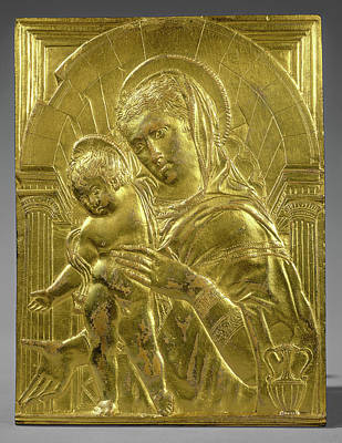 Follower Of Donatello, Madonna And Child Within An Arch Art Print by Litz Collection
