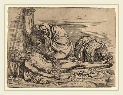 Follower Of Jusepe De Ribera, The Lamentation Art Print