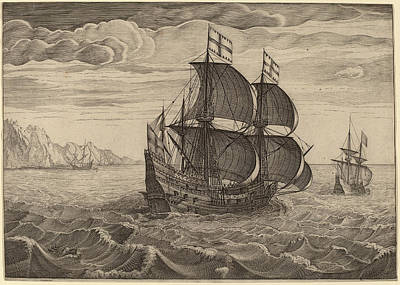 Follower Of Pieter Bruegel The Elder, Ship In Full Sail Art Print by Quint Lox
