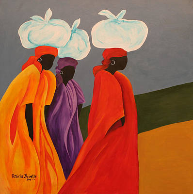 Purple Robe Painting - Following Anna by Patricia Brintle