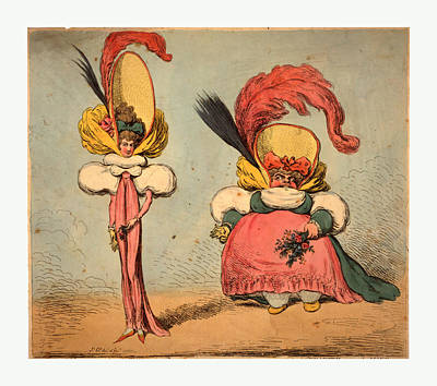 Artist Fashion Art Drawing - Following The Fashion, Gillray, James, 1756-1815, Artist by Litz Collection