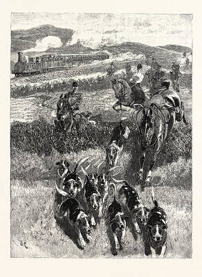New Zealand Drawing - Following The Hounds By Train New Zealand by New Zealand School