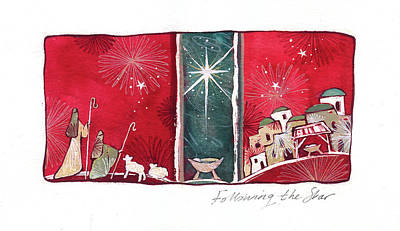 Nativity Painting - Following The Star by P.s. Art Studios