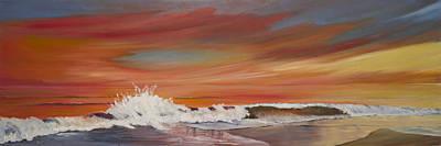 Folly Beach Painting - Folly At Sunset by Jennifer Ashe Thompson