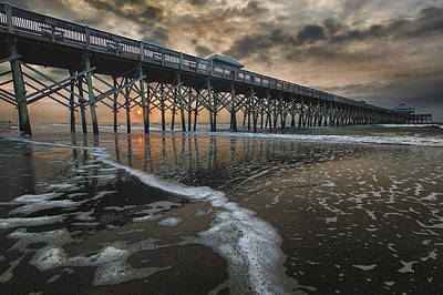 Folly Beach Dawn Art Print by Mike Lang