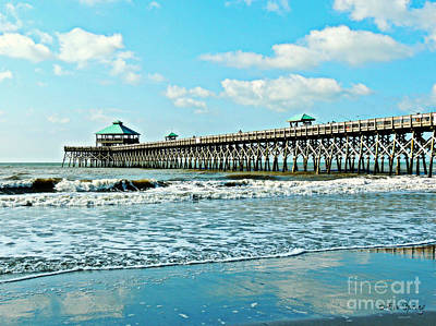 Photograph - Folly Beach Fishing Pier by Eve Spring