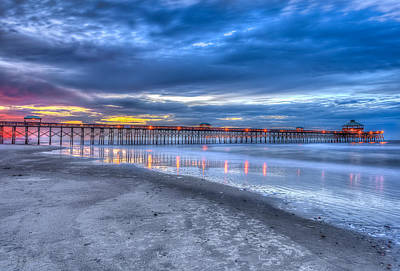 Folly Beach Fishing Pier Art Print by Keith Allen