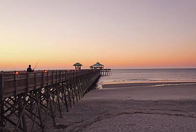 Photograph - Folly Beach Pier Before Sunrise by Daniela Duncan