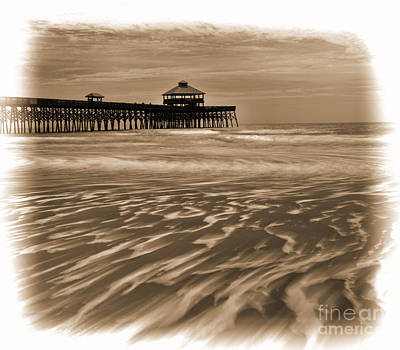Photograph - Folly Beach Pier Toned by Sharon Seaward