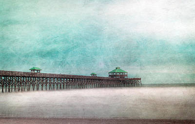 Photograph - Folly Beach Pier With Texture by Joye Ardyn Durham