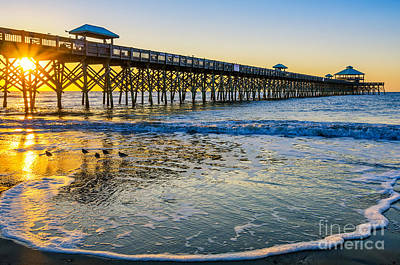 Folly Beach Sunrise Art Print by Anthony Heflin