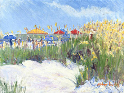South Boston Painting - Folly Field Beach August by Candace Lovely