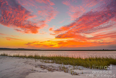 Folly October Sky X Sunset Art Print by Philip Jr Photography
