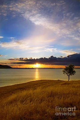 Folsom Lake Sunset Art Print