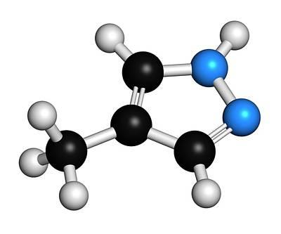 Fomepizole Methanol Poisoning Antidote Art Print by Molekuul