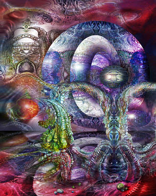 Print featuring the digital art Fomorii Universe by Otto Rapp