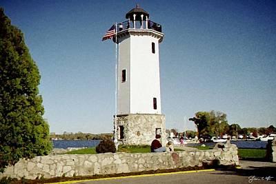 Fon Du Lac Harbor Lighthouse Art Print