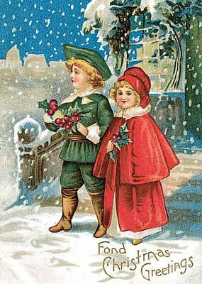 Christmas Cards Digital Art - Fond Christmas by Munir Alawi