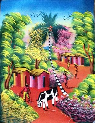 Haitian Painting - Fond-des-neges Memories by Ysmay