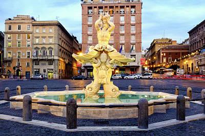 Photograph - Fontana Del Tritone by Fabrizio Troiani
