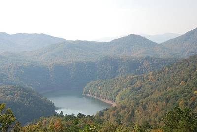 Photograph - Fontana Lake Fall View by Michael Gooch
