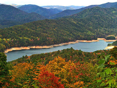 Photograph - Fontana Lake In Fall by Shari Jardina