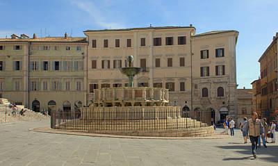 Photograph - Fontana Maggiore Perugia by Caroline Stella