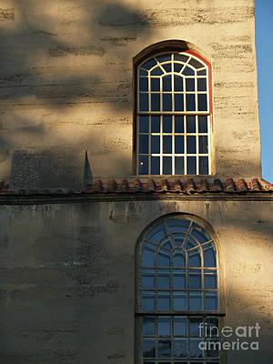 Photograph - Fonthill Castle Windows - Doylestown Pa by Anna Lisa Yoder