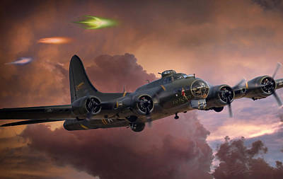 B-17 Wall Art - Digital Art - Foo Fighter by Peter Chilelli