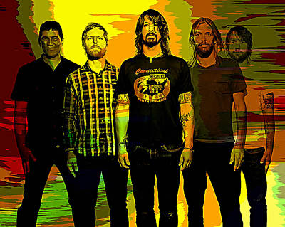 Mixed Media - Foo Fighters by Marvin Blaine